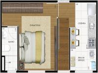 Taubate Areao Apartamento Venda R$250.000,00 Condominio R$300,00 1 Dormitorio 1 Vaga